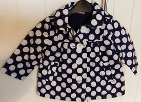Girls Lightweight Miniclub coat aged 6-9 months