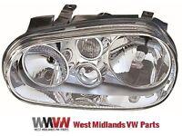 VW GOLF MK4 1997-2004 FRONT LEFT HEADLIGHT PASSENGER SIDE