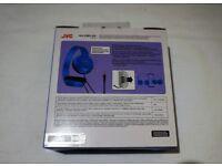 JVC Powerful Bass, On-Ear Headphones - Light Blue (Brand New in Box)