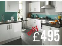 7 Piece Kitchen Units - White High Gloss - BRAND NEW only £495