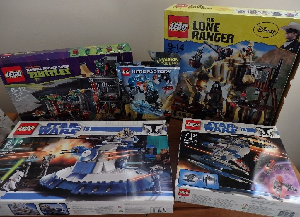 Lego Collection Turtles Star Wars Lone Ranger Hero Factory