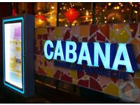 Head Chef, Sous Chef, Grill Chef needed for Cabana