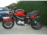 Cagiva raptor planet 125 2 stroke cafe racer 2006 new mot