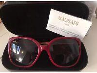 New Auth BALMAIN Women's BL 2037 03 Burgundy Cat Eye Sunglasses