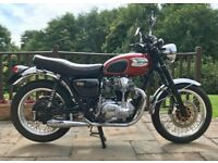 Kawasaki W650 1999, only 7300 miles, 12 months MOT, in outstanding condition