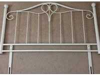 Cream Metal Headboard