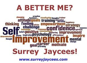 You invitation to a new Jaycee Chapter Night - SELF IMPROVEMENT - Make a better you!