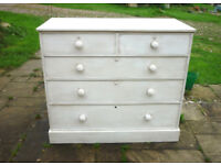 Large Painted Chest of Drawers