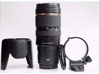 Canon 70-200 F2.8 tamron VC (Vibration Compensation) + Hood +Tripod collar + Filter Hoya