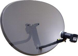 Satellite Dish QUAD LNB Freesat 80cm Hotbird Polsat NC+ SKY Zone 2 antenna kit
