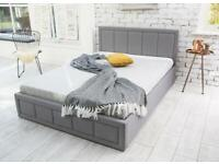 Grey double bed - Like New