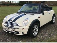 BMW Mini Cooper Convertible 2007 - White - Full Leather - MOT July 2017 - Stunning Condition - 88k