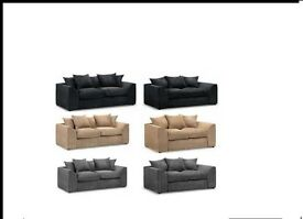 Jumbo Cord Sofa 3+2 *Available in Different Colours* *Brand New*