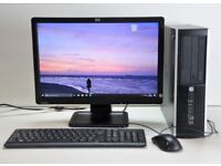 HP Full Computer PC Desktop Setup with Monitor and accessories