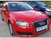 2009 AUDI A3 1.9 TDI SPORTBACK (FACELIFT)+FULL HISTORY+11 MONTH MOT+*TIMING BELT REPLACED +£30 TAX!!
