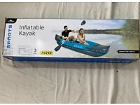 *NEW* Crane Inflatable 2 Person Kayak with Water proof bag & Paddle! NXT DAY DEL