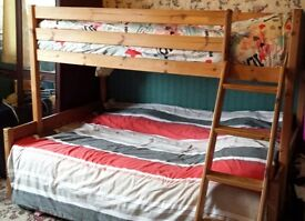 Triple Bunk Bed - Solid Pine