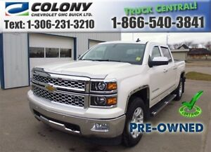 2015 Chevrolet Silverado 1500 5'8 Box, LTZ Crew Cab, Leather, PS