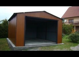 Steel building, workshop, garage