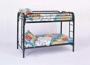 Contemporary look, Durable Frame Twin/Twin Metal Bunk Bed