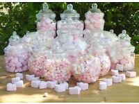 Plastic Sweet Jars and Scoops - Wedding Party