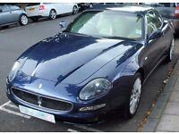 Stunning Blue Nettuno MASERATI 4200 CC Coupe V8 with Full Service History & Low Mileage