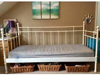 WHOLE IVORY BEDROOM BED/BOOKSHELF/DRAWERS CUPBOARD/SHELVES UNIT