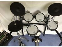 Roland TD-12K Drum Kit. Snare, 3 toms, bass drum Hi Hat 2 cymbals. +Hi Hat stand and bass pedal