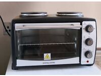 Andrew James Mini Oven And Grill With Double Hot Plates, 2900 Watts, 24 Litre Capacity