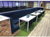 Bench seating booth tables