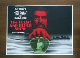 the flesh and blood show ' original cinema poster