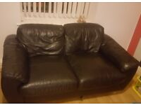 Faux Leather 2 seater couch