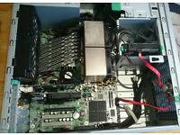 8 core twin quad motherboard 32gb ram ,3.2ghz x8 700 watt psu 80+