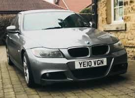 ** 2010 BMW 2.0 318D M SPORT 4 DR LEATHER SPACE GREY RECENTLY SERVICED MOT JULY 2018 3 SERIES **