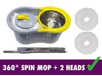 Microfibre SPIN MOP and Bucket Spinning MOP BUCKET Magic 360 Spin Mop STAINLESS