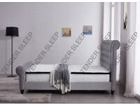 💗🔥SAME DAY QUICK DELIVERY🔥BRAND NEW DOUBLE &KING SIZE OTTOMAN STORAGE VELVET SLEIGH BED +MATTRESS
