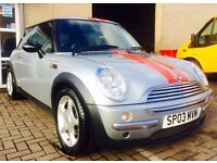 Mini one 1.6 hatchback 2004, low miles & long mot, not audi bmw golf gti seat leon cupra st rd ford