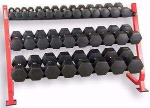 KELOWNA WAREHOUSE NEW VIRGIN RUBBER NO ODOR New Next generation HEX dumbbells (Kelowna Location)