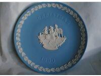 Wedgwood Christmas Plates 1990 and 1991