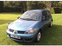 Renault Clio 1.1 LOW MILEAGE, Immaculate Condition, 58 Reg, Petrol, MOT til 28 Nov 2017