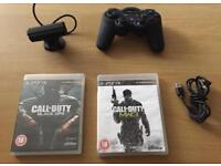 Boxed PS3 with Controller, 2 games and PS3 eye