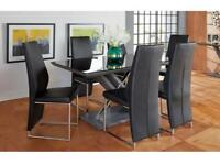 Prospect fixed dinning table & 4 chairs