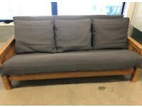 The futon company 3 seater solid oak sofa bed