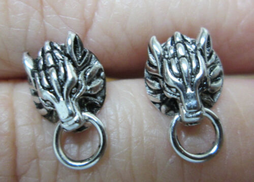 Final Fantasy VII 7 Cloud Strife Cloudy Wolf Sterling Silver PAIR of Earrings