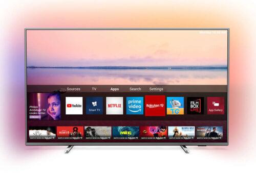 PHILIPS Fernseher 50PUS6754/12 50 Zoll 4K UHD LED Ambilight Smart TV silber NEU