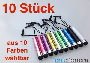 10x Stylus Touchpen Eingabestift mini - Smartphone Tablet - iphone ipad samsung