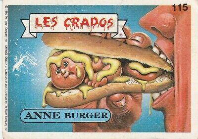 Les CRADOS : Anne Burger 115 Sticker Vintage BON ETAT.
