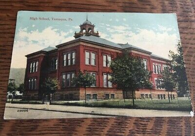Real Photo P/card -High School Tamaqua PA. USA- Valentine - Sent to A. Southcott