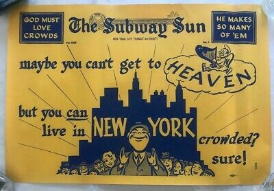 NY Subway Subway Sun Ad 33 No 1 Heaven Crowds Amelia Opdyke Jones, a.k.a.