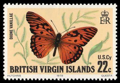 "VIRGIN ISLANDS 343 (SG393) - Gulf Fritillary Butterfly ""Dione vanillae"" (pf28528"